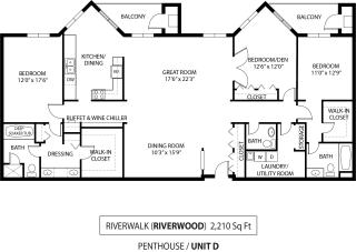 Floor Plan Riverwalk Penthouse