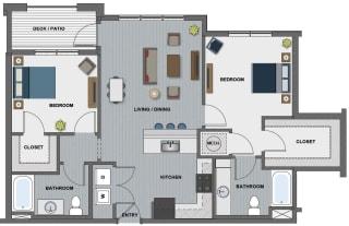 Edison at Riverwood 2 Bedroom 2 Bathroom (Lang)