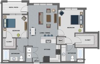 Edison at Riverwood 2 Bedroom 2 Bathroom (Latimer)