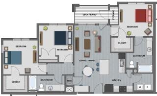 Edison at Riverwood 3 Bedroom 2 Bathroom (Walker)
