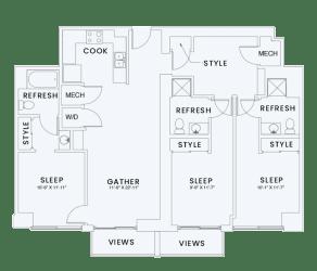 Skyhouse plan C3
