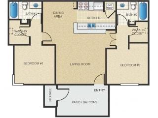 Mission Springs Apartments Havasu Floor Plan