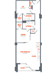 Legacy West End Apartments B1a Floor Plan