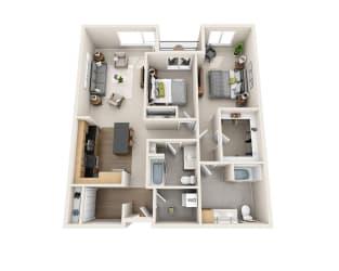 Waterscape at Juanita Village Apartments B2I Floor Plan