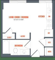 Legacy West End Apartments S2 Floor Plan