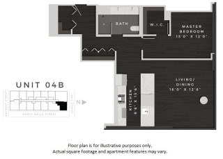 Unit 04B Floor Plan at 640 North Wells, Chicago, IL