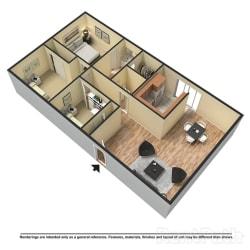 Floor Plan 3 Bed | 2 Bath A