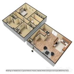 Floor Plan 3 Bed | 2.5 Bath C Townhome