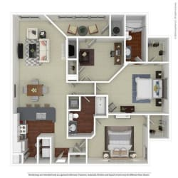 Floor Plan B3 Mulberry with Den