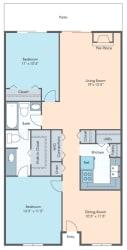 Floor Plan 2 Bedroom Flat