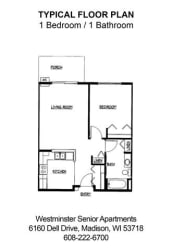 Floor Plan 1 Bedroom 1 Bathroom
