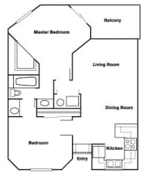 2 Bed 2 Bath A Floor Plan at Elevate at Discovery Park, AZ, 85283
