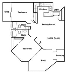 2 Bed 2 Bath F Floor Plan at Elevate at Discovery Park, Tempe, AZ