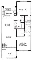 2 Bed 2 Bath B Floor Plan at Elevate at Discovery Park, AZ, 85283