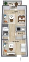 Floor Plan 2 Bed | 2. 5 Bath