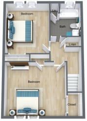 Floor Plan 2 Bed | 1.5 Bath Town Home