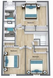 Floor Plan 3 Bed | 2.5 Bath Town Home