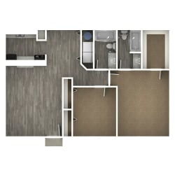 Floor Plan 2 Bedroom | G
