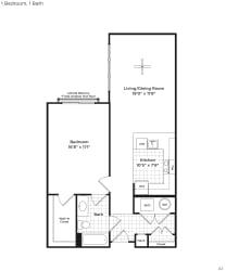 A7a Floor Plan at 800 Carlyle, Alexandria, VA