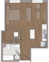 S4 Floor Plan Layout at The George, Maryland, 20902