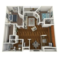 The Altitude at Blue Ash Reserve One Bedroom Floor Plan