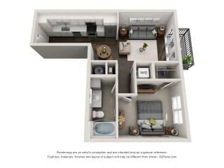 A1 Floor Plan at Marq on Main, Lisle, IL