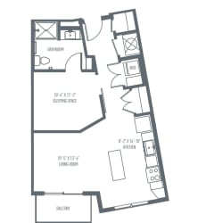 A3 Floor Plan at Union Berkley, Kansas City, 64120