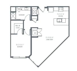 B3 Floor Plan at Union Berkley, Kansas City, Missouri