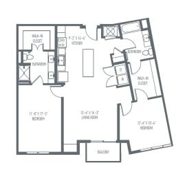 D3 | D4 Floor Plan at Union Berkley, Kansas City, Missouri
