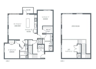 P1 Floor Plan at Union Berkley, Missouri, 64120