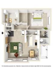 Floor Plan 1 Bedroom w/Study - Phase II