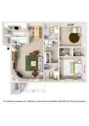 Floor Plan 2 Bedroom - Phase I
