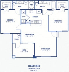 Oak Creek  2 Bedroom