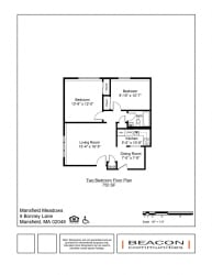 Two Bedroom apartment at Mansfield Meadows in Mansfield, MA