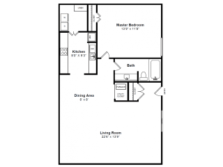 Dartmouth Floor plan at Windsor Village at Waltham, 976 Lexington Street, Waltham, MA 02452