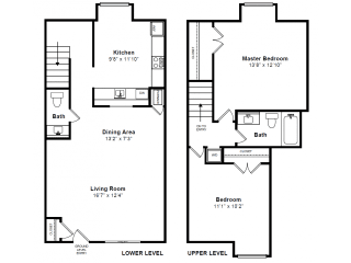Exeter 2 Floor plan at Windsor Village at Waltham, 976 Lexington Street, Waltham, MA 02452