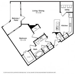 Sombra Floorplan at The Monterey by Windsor