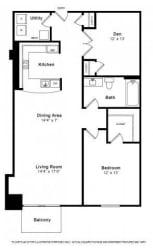 Apollo Floorplan at The Manhattan Tower and Lofts