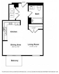 Dakota Floorplan at The Manhattan Tower and Lofts