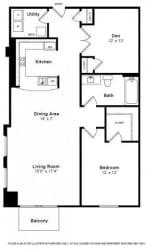 Delancy Floorplan at The Manhattan Tower and Lofts