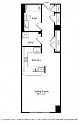 Hudson-Four Star Floorplan at The Manhattan Tower and Lofts