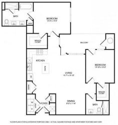 The Chandler Floorplan at The Manhattan Tower and Lofts