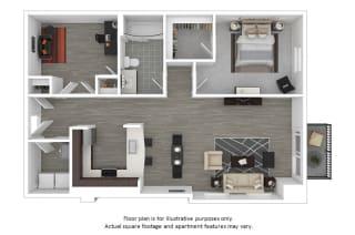 Delancy floor plan at The Manhattan Tower and Lofts, Colorado, 80202