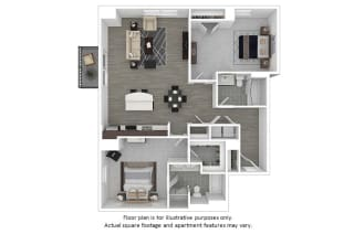 Lincoln floor plan at The Manhattan Tower and Lofts, CO, 80202