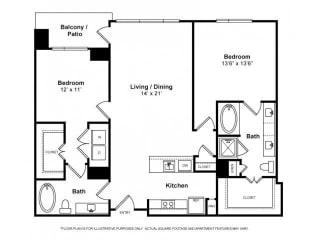 Floorplan at Windsor Memorial, 3131 Memorial Court,  Houston, 77007