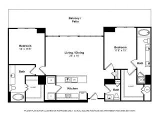 Floorplan at Windsor Memorial,  Houston, TX 77007