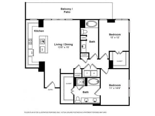 Floorplan at Windsor Memorial,  Houston, TX 77007