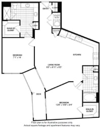 Floorplan At Domain by Windsor,1755 Crescent Plaza, 77077