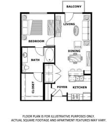 Floorplan at Terraces at Paseo Colorado, Pasadena, CA, 91101