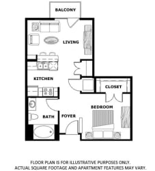 Floorplan at Terraces at Paseo Colorado, Pasadena, CA, 91101